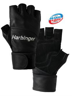 Harbinger Classic All Leather Wristwrap Gloves